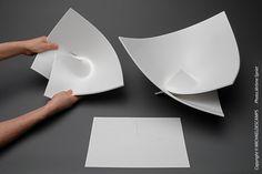 Conceptual Model Architecture, Folding Architecture, Kirigami Templates, Paper Folding Techniques, Paper Art, Paper Crafts, Fractal Geometry, Diy Wall Art, Teaching Art