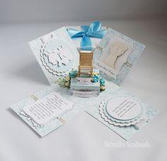 Odskocznia vairatki: Z wózeczkiem dla Igorka Exploding Boxes, Christening, Origami, Decorative Boxes, Cards, Handmade, Hand Made, Origami Paper, Maps