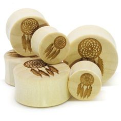 Stay Gold Organic Drem Catchers Ear Gauges Plugs 1/2 Inch