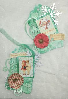Tags made by Erica Evans using #primamarketinginc Sweet Peppermint collection