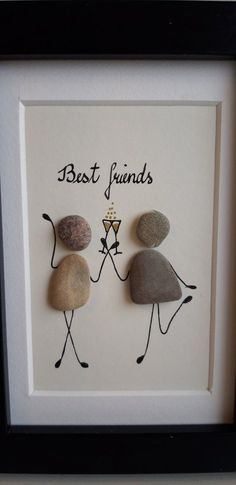 Best Friends, Stone Picture – About jewelry organizer diy Upcycled Crafts, Etsy Crafts, Easy Diy Crafts, Diy Crafts To Sell, Diy Jewelry Unique, Diy Jewelry To Sell, Diy Jewelry Holder, Pebble Pictures, Diy Jewelry Inspiration