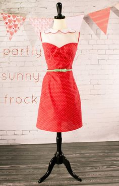 The Partly Sunny Frock Free Pattern by grosgrain on Burdastyle