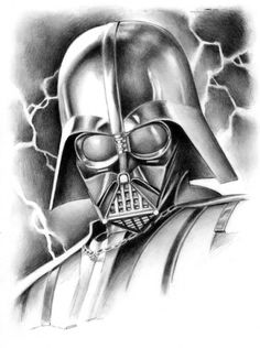 Darth Vader Pinup by Kevin West Comic Art