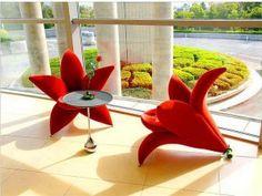 Beautiful flower-chairs