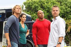 Cast of NCIS LA -- Eric Christian Olsen, Daniela Ruah, LL Cool J and Chris O'Donnell