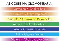 As cores da cromoterapia