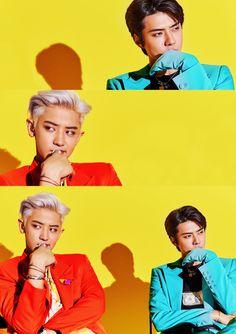 "Sehun & Chanyeol - SC ""What a life"" Teaser Baekhyun Chanyeol, Exo K, Park Chanyeol, Kim Min Seok, Xiu Min, Got7, Luhan And Kris, Kris Wu, Exo Album"