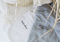 DIY Word Embroidered T-shirt