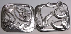 Commission: A fine silver nurses buckle, full size.