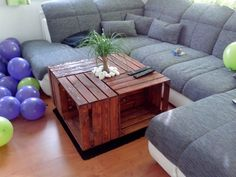 Couchtisch aus Holzkisten Table, Furniture, Home Decor, Wooden Crates, Homemade Home Decor, Tables, Home Furnishings, Interior Design, Home Interiors