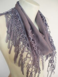 $18.90 pashmina scarf with lace