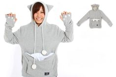 This New Hoodie Lets You Carry Your Cat Wherever You Go via Brit + Co.