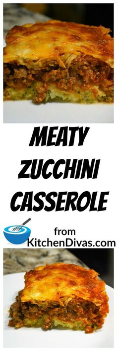 This zucchini crust is fabulous! Actually, this casserole fabulous! Another recipe from my friend Marcel. So easy to prepare. You can put anything in the sauce that you desire. Delicious! #dinner #casserole #zucchini