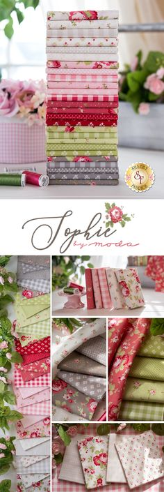 Sophie is a gorgeous floral collection by Brenda Riddle for Moda Fabrics. 100% Cotton. Shabby Fabrics, Quilting For Beginners, Riddles, Quilt Blocks, Colours, Quilts, Sewing, Floral, Shop