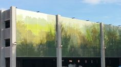 Structurflex's Tensile Mesh Facade Screening with Printed Graphics in Cleveland, Ohio (USA)