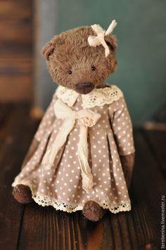 Купить Мишка.........Резерв - коричневый, мишка, мишка тедди, мишка ручной работы, мишка девочка