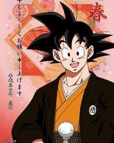 Goku in traditional Japanese clothes Dbz, Goku And Vegeta, Dragon Ball Gt, Sailor Saturno, Goku Pics, Manga Dragon, Manga Anime, Cute Pokemon Wallpaper, Arte Sketchbook