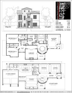 Best 2 Story House Plans, Two Story Home Blueprint Layout, Residential – Preston Wood & Associates Two Story House Plans, 2 Story Houses, Two Story Homes, Best House Plans, Dream House Plans, House Floor Plans, Home Design Plans, Plan Design, Design Ideas