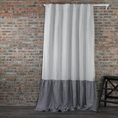 Choose from three attractive designs when you purchase linen curtains from our exquisite ruffled linen collection -- drop ruffles, skirt ruffles, or waterfall. Our ruffle linen curtains are crafted from 100 % light & airy linen. Ruffle Curtains, Grey Curtains, Lined Curtains, Window Curtains, Linen Sheets, Linen Bedding, Bed Linens, Bedding Sets, Linen Pillows