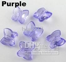 Wholesale 100Pcs Purple Faceted Acrylic Plastic DIY Lucite Butterfly Spacer Beads Charms 9x10mm(001293), Free shipping, $0.15-0.18/Piece | DHgate