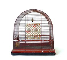 Vintage Red Birdcage by Pacific by marybethhale on Etsy, $48.00 #eveteam#bircages#vintage