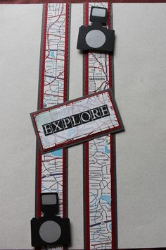 Use for RoadTrip album. Scrapbook Travel Album, Beach Scrapbook Layouts, Scrapbook Borders, Vacation Scrapbook, Scrapbook Layout Sketches, Scrapbook Titles, Scrapbook Embellishments, Disney Scrapbook, Scrapbook Cards
