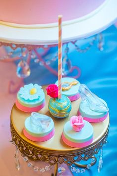 Love these cake pops and chocolate covered  Oreos from this Cinderella Royal Ball Birthday Party via Kara's Party Ideas KarasPartyIdeas.com #PrincessParty #CinderellaParty #GirlPartyIdeas #PartyDecor ...