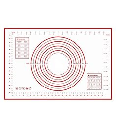 AYAMAYA Silicone Baking Mat w MeasurementsBaking Tray Liner 6040cm  Non Stick Silicon Liner Placemat Heat Resistant for Bake Pan  Dough Rolling PastryEasy To Clean  Best Healthy Cooking Mat *** This is an Amazon Affiliate link. Details can be found by clicking on the image.