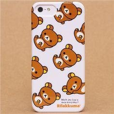 white Rilakkuma bear iPhone 5 hard cover case from Japan