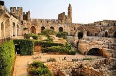 The beautiful Tower of David in Jerusalem! great pic of the inside of David's Citadel.