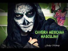 A fantasia de caveira mexicana tem feito o maior sucesso em bailes e festas e você não pode deixar de conhecer essa moda. Vem ver! Halloween 1, Halloween Face Makeup, Sugar Skull, Shades Of Black, Costume Ideas, How To Make Up, Costumes, Men's, Mexican Meals