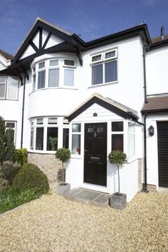 Entrance Porch On Semi Detached House With Round Bay