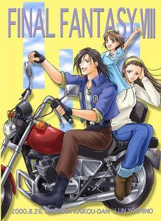 Laguna, Ellone, and Raine. Final Fantasy VIII.