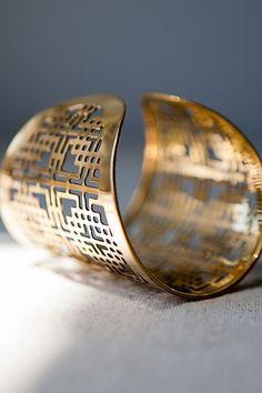 Metal cuff via India Hicks Sugar Hill