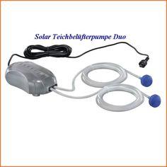 Solar Teichbelüfterpumpe Duo einzeln zur Belüftung von Teichen und Filter 101884