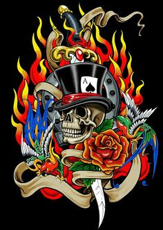 Skull and dagger by ~russellink on deviantART