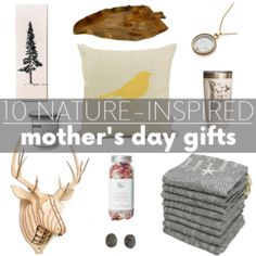 Looking for eco-friendly mother's day gifts? These 10 nature-inspired items are sure to delight the mother earth loving mother in your life - whether that be your mom, mom-in-law, grandma, sister - or yourself! Mom In Law, Rocking Chair Cushions, Love Is Not Enough, Bird Pillow, Quilt Batting, Nature Decor, How To Take Photos, Nature Inspired, Eco Friendly