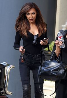Naya Rivera Photos - Naya Rivera Runs Errands in Hollywood - Zimbio