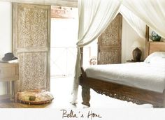 Bella's Home - In Bali, I loved the style of Bella's home. Very cool, simple and sophisticated at the same time, with some beautiful Balinese furniture. I'll post a series of photos of her home this week. Balinese Interior, Balinese Decor, Asian Interior, Bali Bedroom, Bedroom Decor, Decoration Inspiration, Design Inspiration, Style Bali, Bungalow