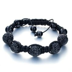 Fahter's Day Gifts Pugster Black Ball Rhinestone Adjustable Bracelet GiftCrystal Swarovski Crystal Stone Balls Bracelet (36 COLORS TO CHOOSE FROM) Pugster. $39.75. Metal: cotton,rhinestone. Weight (gram): 16.2. Color: black. Size (mm): 245*14.9*12.78 Adjustable Bracelet, Stones And Crystals, Black Metal, Balls, Swarovski Crystals, Jewelry Bracelets, Color Black, Colors, Cotton