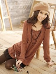 Fashion | Dress.  Brown New Spring Korean Fashion On Sale Double.  One Size. http://shrsl.com/?~388q  $17.70