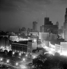 detroit skyline 1940 | Detroit Skyline, 1940s
