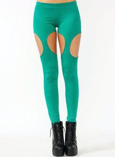 cut-out garter leggings $19.00