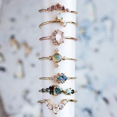 Heirloom Jewels - Just a few of our favorite rings for fine jewelry. - Heirloom Jewels - Just a few of our favorite rings for fine jewelry. Shop m . - Heirloom Jewels - Just a few of our favorite rings for fine jewelry. Buy modern now - Cute Jewelry, Jewelry Box, Jewelry Accessories, Jewelry Necklaces, Women Jewelry, Jewelry Making, Gold Bracelets, Jewelry Stand, Emoji Jewelry