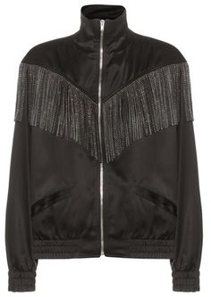 Saint Laurent Fringed bomber jacket. Bomber jacket fashions. I'm an affiliate marketer. When you click on a link or buy from the retailer, I earn a commission.