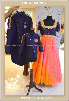 family matching dress designs in bangalore by angalakruthi boutique #matching outfits #matchingdresses