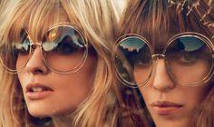 Vintage look met zonnebril van Chloé