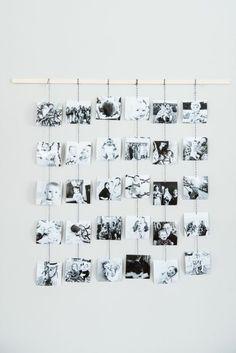 Untypische Bilderwandgestaltung Mit Kleinen Schwarz Weissen Bildern