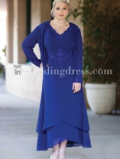Chiffon Emboridery Plus Size Mother of the Bride Dress. Love this!!!