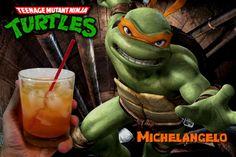 Teenage Mutant Ninja Turtles Cocktails: Michelangelo